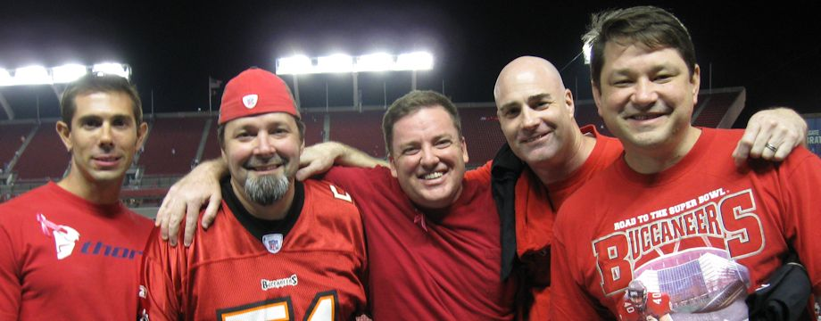 WeirDave and friends at the Tampa Bay Buccaneers Monday Night Game (2011)