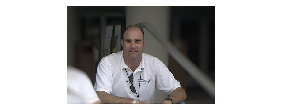 WeirDave working at the St. Petersburg Grand Prix (2000)