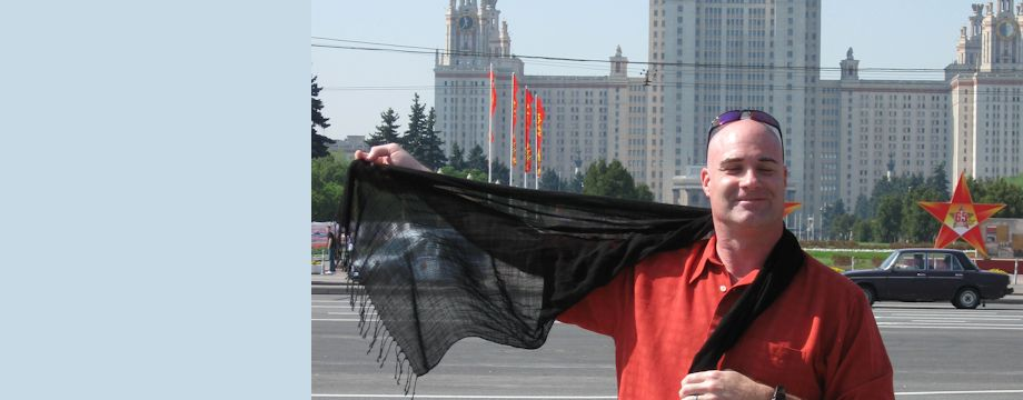 WeirDave in front of University of Moscow, Russia (2010)
