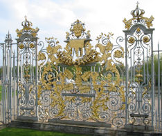 Hampton Court Palace - screen representing Scotland